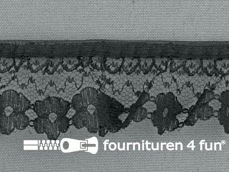 Nylon plisse kant 35mm zwart