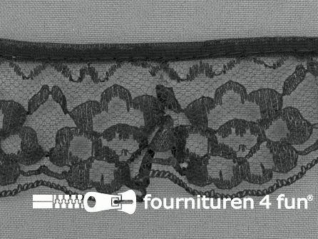 Nylon plisse kant 40mm zwart