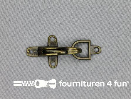 Koffer musketon 25mm geel brons