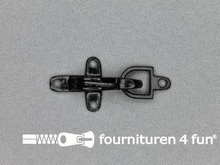 Koffer musketon 25mm zwart lak