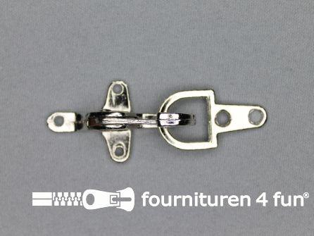Koffer musketon 28mm chroom