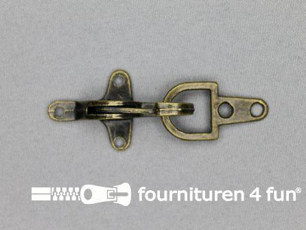 Koffer musketon 28mm geel brons