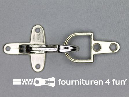 Koffer musketon 41mm chroom