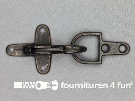 Koffer musketon 41mm zwart brons