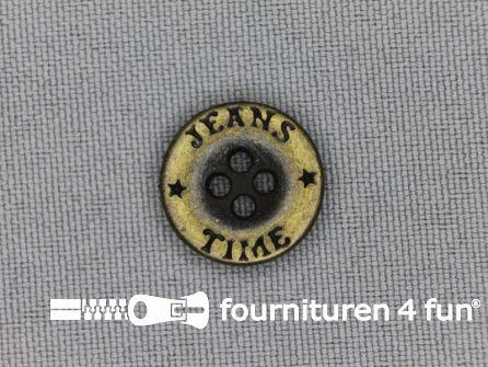 Bronzen knoop 15mm jeans time
