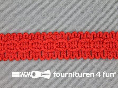 COUPON Nylon galon 14mm rood - 3 stukken, totaal 32 meter (16,7 + 14,3 + 1,6 meter)