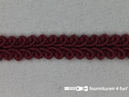 Katoenen galon 11mm bordeaux rood