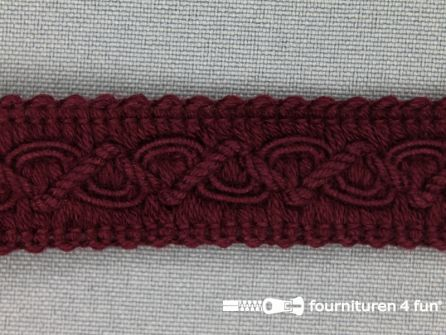 Katoenen galon 20mm bordeaux rood