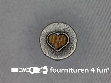 Landhuis knoop 15mm houten hart