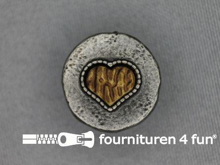 Landhuis knoop 20mm houten hart