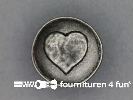 Landhuis knoop 23mm hartje