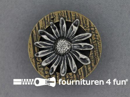 Landhuis knoop 30mm hoorn bloem