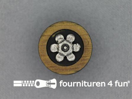 Landhuis knoop 20mm hoorn bloem