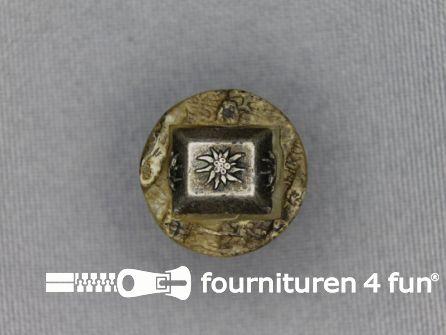 Landhuis knoop 18mm hoorn edelweiss