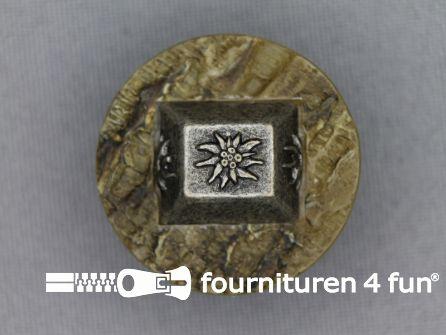 Landhuis knoop 28mm hoorn edelweiss