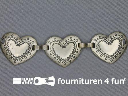Landhuis versiering 23mm hartjes