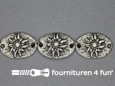 Landhuis versiering 20mm edelweiss