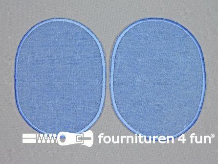 Kniestukken 125mm jeans blauw