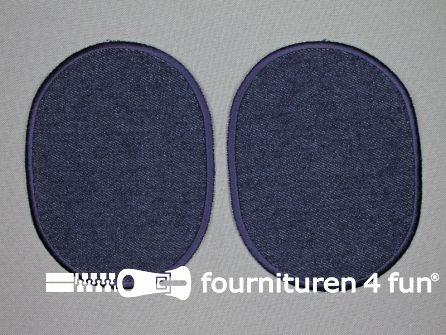 Kniestukken 125mm marine blauw