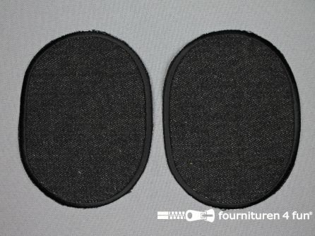 Kniestukken 125mm zwart