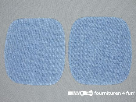 Kniestukken 110mm licht jeans blauw