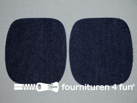 Kniestukken jeans 110mm marine blauw