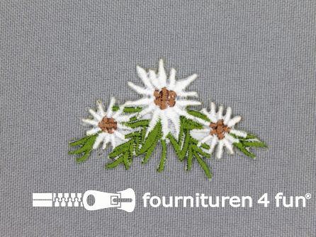 Landhuis applicatie 52x53mm edelweiss