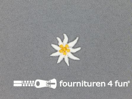 Landhuis applicatie 19x19mm edelweiss