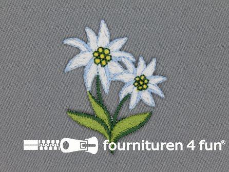 Landhuis applicatie 51x41mm edelweiss