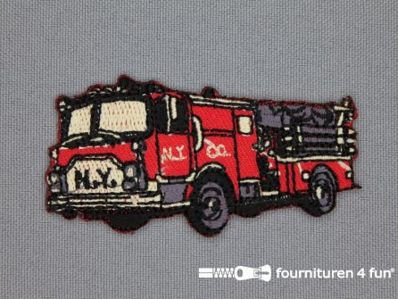 Boys applicatie 33x66mm brandweer