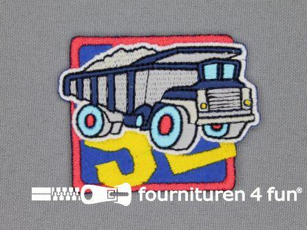 Boys applicatie 50x63mm vrachtwagen