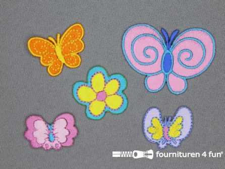 Girls applicatie set vlinders - bloem