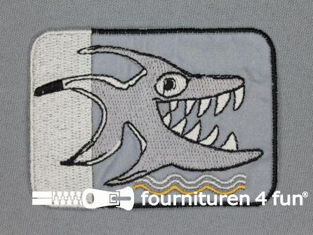 Reflecterende applicatie 61x87mm haai