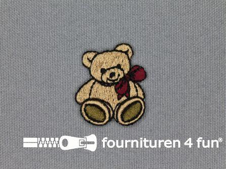 Kids applicatie 27x25mm teddybeer