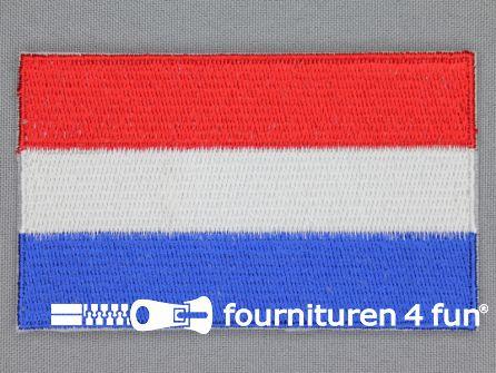 Kids applicatie 60x100mm vlag nederland