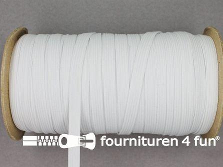 50 Meter rol elastiek 6mm wit