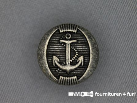 Zilveren knoop 20mm anker