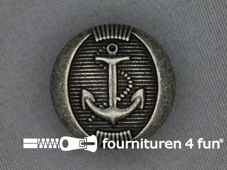 Zilveren knoop 25mm anker