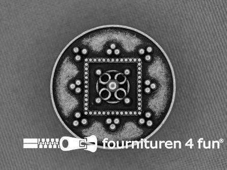 Zilveren knoop 25mm studs
