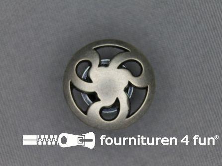 Zilveren knoop 20mm propeller