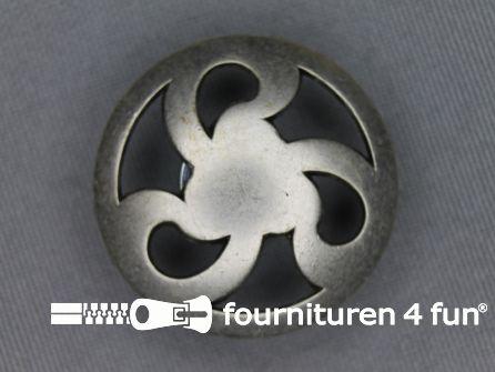 Zilveren knoop 30mm propeller