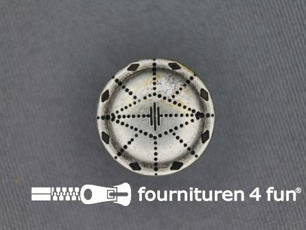 Zilveren knoop 18mm as