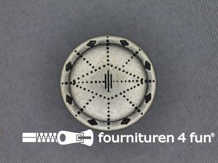Zilveren knoop 20mm as