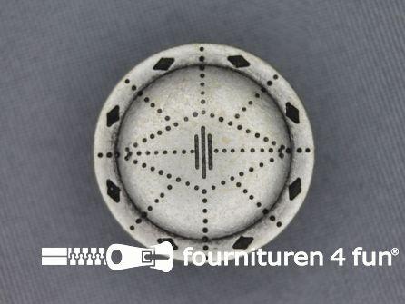 Zilveren knoop 25mm as