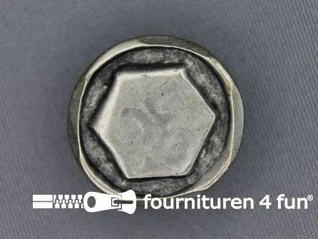 Zilveren knoop 27mm moer
