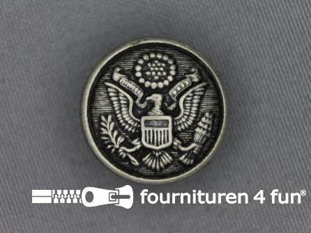 Zilveren knoop 23mm wapen