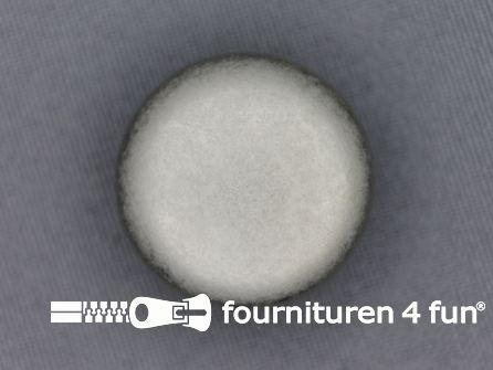 Zilveren knoop 25mm mattie