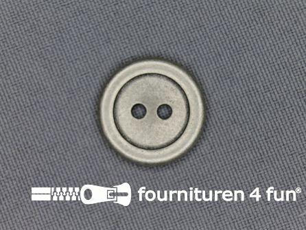 Zilveren knoop 18mm plat