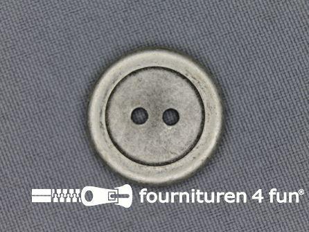 Zilveren knoop 23mm plat