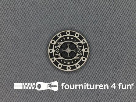 Zilveren knoop 15mm romeins